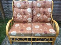 Wooden conservatory sofa