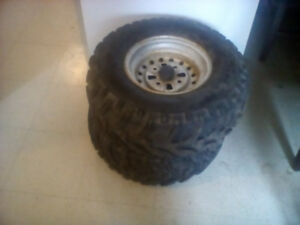 For sale two atv tires and rims 24x9x11
