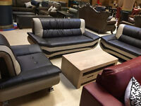 Liquidation black and white or beige and brown sofa set