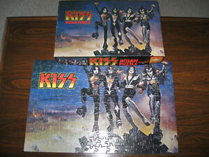 Kiss-1970s Destroyer puzzle + solo promo flyer + Psycho poster