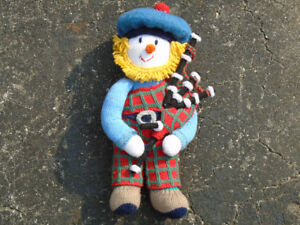 """Knitted """"Scottish Bag-pipe Play-Doll"""" - *** Only $10. !!!!!."""