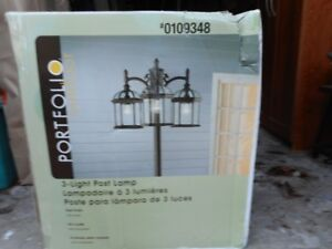 Two Portfoli Outdoor 3 - Light Post Lamps