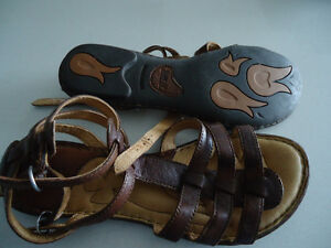 Size 8 BORN Gladiator Leather sandals.
