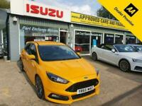 2015 Ford Focus 2.0 ST-3 TDCI 5d 183 BHP IN YELLOW WITH 49,300 MILES AND A FULL