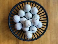 Assorted top brand golf balls (Callaway, Titleist)