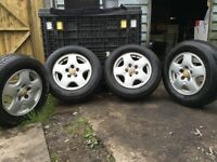 Mazda bongo alloy wheels and tures
