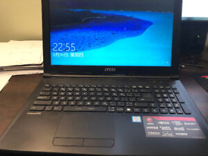 MSI GL62 gaming laptop for sale