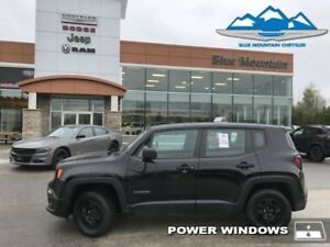 2015 Jeep Renegade Sport  ACCIDENT FREE, LOCAL TRADE, 4X4!!