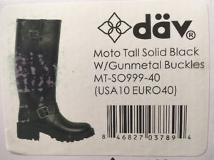 Women's Black Tall Solid Boots