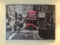IKEA large black & grey London street scene with red double decker bus