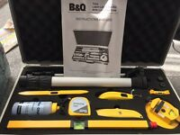B and Q torq laser level tool kit in lockable case