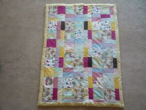 New Hand Quilted PATCHWORK Baby Quilt (Blanket)