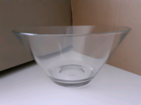 LARGE CLEAR BOWL, BRAND NEW, UNUSED