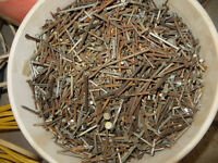 VARIETY OF PAILS OF NAILS ALL SIZES