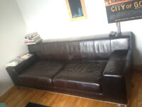 IKEA Kramfors 3 seater Brown leather,MINT!