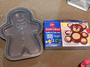 Gingerbread man baking pan & Cupcake puzzle cake set REDUCED