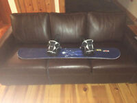 Sims 144 centimeter snowboard with Flow bindings