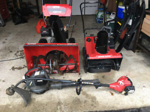 Snowblower,leaf blower and grass trimmer