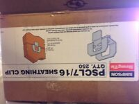 Box of over 200 7/16 sheathing clips for securing roof plywood