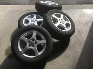 Mags 5 X 100 (jantes / roues) et  pneus 195/65R15