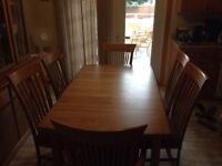 7 piece solid wood dining room set