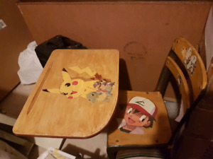 Old school desk .. Pokemon