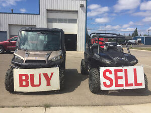WE WILL BUY YOUR USED SIDE BY SIDE OR ATV