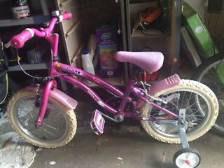 "Apollo popstar 16"" girls bike VGC with stabilisers"