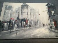 Large City scape painting
