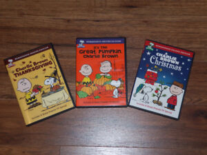 CHARLIE BROWN DVDS   **$10 FOR ALL**  CLASSICS
