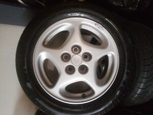 1990 Nissan 300ZX OEM Rims with rubber