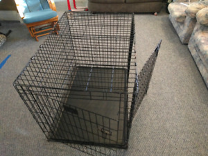"2 Door Metal DOG KENNEL (42""L x 28.4""W x 30.5"" D)"