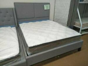 FREE DELIVERY !!!! Lindley Double/Queen Bed Frame In Light Grey