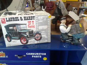 Laurel and Hardy model & coin bank