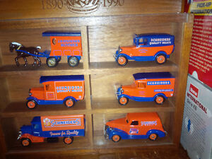 jm schneiders set of 6 die cast collectible trucks in case