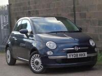FIAT 500 1.3 MULTIJET LOUNGE + ONLY £20 A YEAR ROAD TAX + PANORAMIC ROOF +