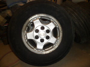 GM 16 inch wheels and tires