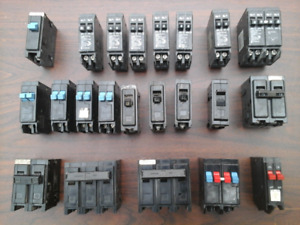 Cutler Hammer circuit breakers. Many sizes. Excellent condition