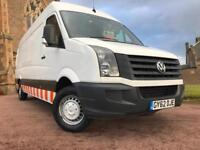 *3 MTHS WARRANTY*2012(62)VW CRAFTER 2.0 TDI CR35 HIGH ROOF LWB 103K FSH*