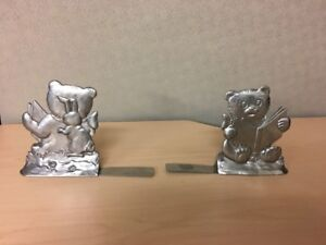 SEAGULL Pewter Baby Bookends
