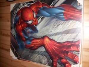 Spiderman Wood Plaque Mounted Posters