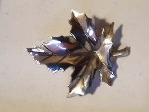 Antique Sterling silver Maple Leaf pin