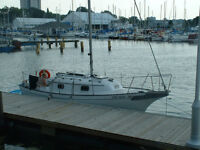 Bayfield sailboat and trailer