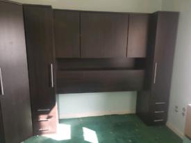 Corner Wardrobe, 2 single wardrobes & overhead unit