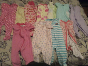Garbage bag full of baby girl clothes size 3-6m and 6m!