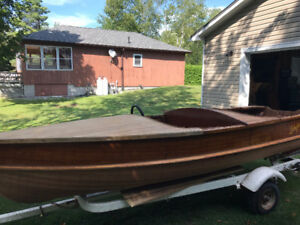 Cedar stripe Boat - LAKEFIELD - Original Antique