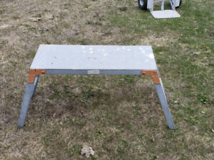 Work Platform Bench Aluminum Drywaller