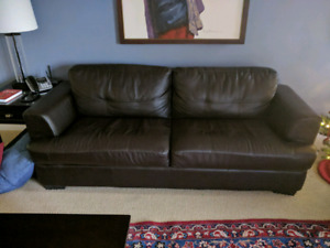 Leather Sofa and Love seat $200