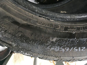 215/65/17 winter studded tires