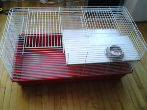 XXL ANIMAL CAGE REMOVABLE SHELVES 2  ENTRY 100X50X48CM